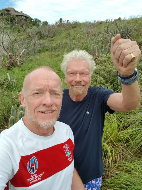 Richard Branson at the centre of Necker